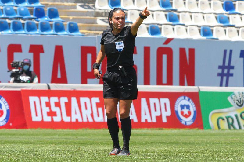 María Belén Carvajal, en el amistoso entre Chile y Zambia