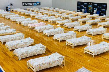 La AFA dispone de gimnasio como hospital de campaña con 120 camas para atender enfermos