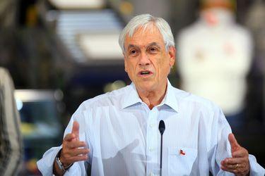 El presidente Sebastián Piñera se refirió esta mañana Piñera a la reforma de pensiones.