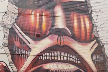Attack on Titan celebra las 100 millones de copias con increíble mural