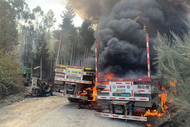 Nuevo ataque incendiario en el sur: Desconocidos queman al menos seis máquinas en Contulmo