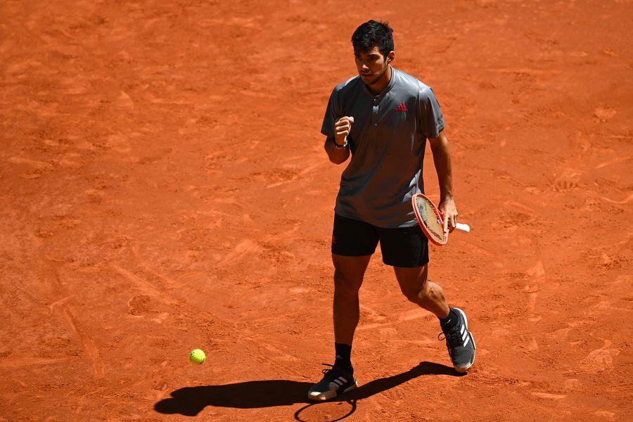 Christian Garin se impuso por 6-4, 6-7(2) y 6-1 a Daniil Medvedev en el Masters 1000 de Madrid.