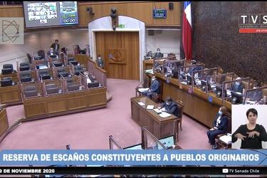 Senado rechaza propuesta de escaños reservados supernumerarios para pueblos originarios tras no alcanzar quórum de 3/5