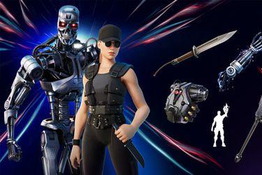 Sarah Connor y el T-800 llegan a Fortnite