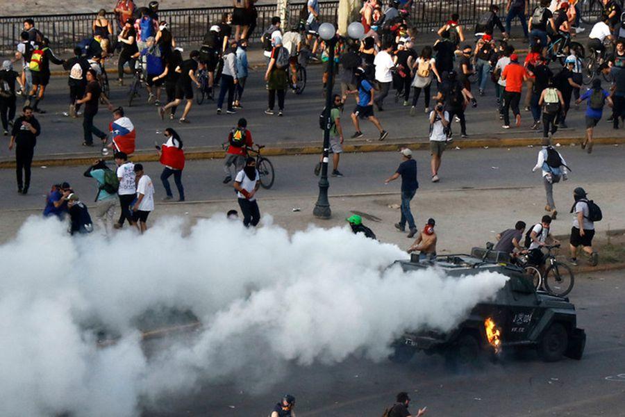 Plaza Baquedano. Foto: Agenciauno.
