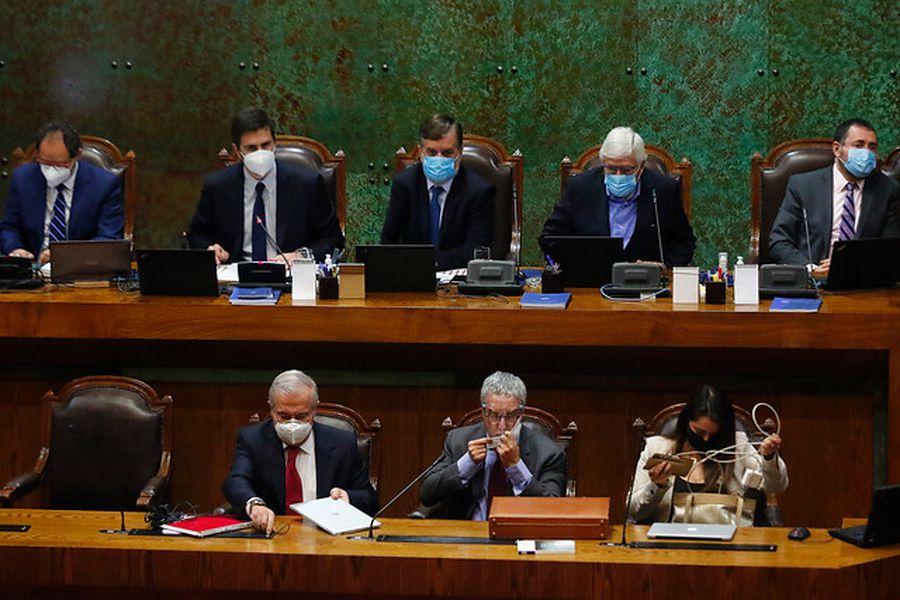 El exministro de Salud Jaime Mañalich hoy en la Cámara. Foto: AgenciaUno.