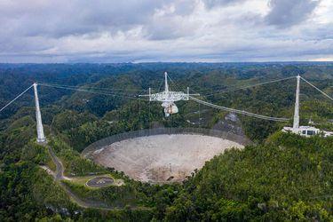 El fin de un ícono: colapsa el radiotelescopio de Arecibo en Puerto Rico