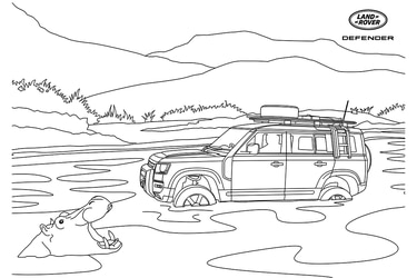 Antílopes, jirafas, elefantes y el Defender: Así son los dibujos para colorear de Land Rover
