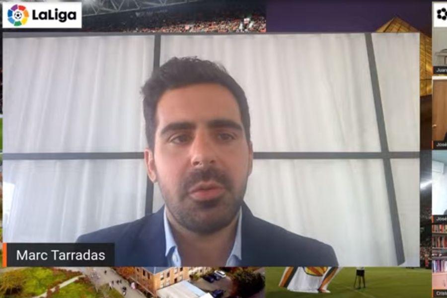 Marc Tarradas, encargado de LaLiga para Sudamérica, en el lanzamiento del convenio con la Universidad de Los Andes.