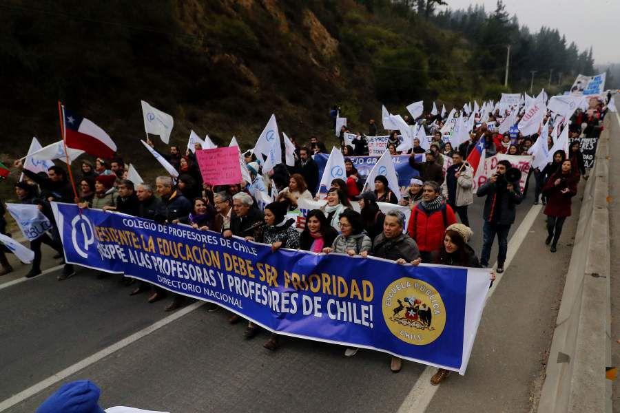 Marcha de profesores en Valparaiso 11/06/2019