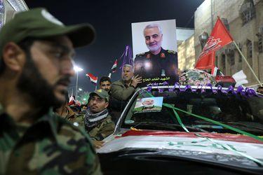 Mourners attend the funeral procession of the Iranian Major-General Qassem Soleimani and Iraqi militia commander Abu Mahdi al-Muhandis in Kerbala