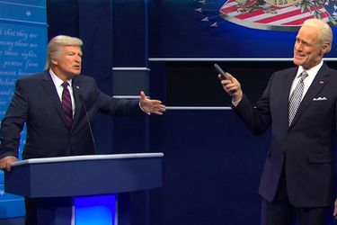 Alec Baldwin y Jim Carrey recrean debate entre Donald Trump y Joe Biden en Saturday Night Live