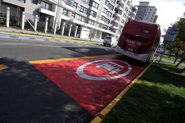 Transportes implementa 109 kilómetros de Pistas Sólo Bus para el Plan Paso a Paso en la Región Metropolitana