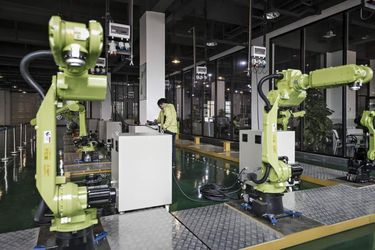 Testing Inside E- Deodar's Robot Factory And The Bots At Work At A Furniture Manufacturer