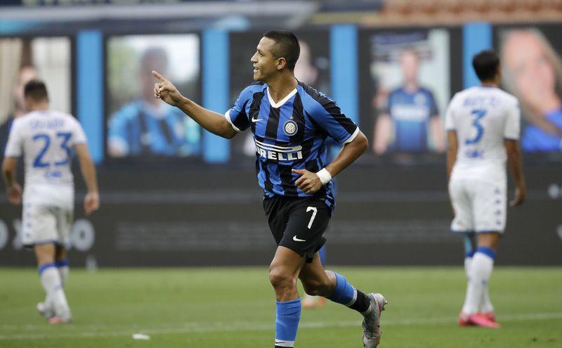 Alexis Sánchez y su mejor partido en el Inter - La Tercera