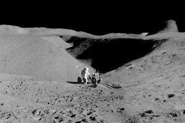 Nasa publica nuevas imágenes panorámicas de la Luna captadas por la misión Apollo