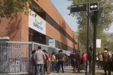 Se registran largas filas en San Bernardo para pagar deudas del tag