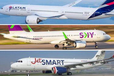 Aerolíneas continúan recuperando su actividad: SKY anuncia que reactiva el total de sus rutas nacionales y JetSmart avanza en retomar sus vuelos domésticos
