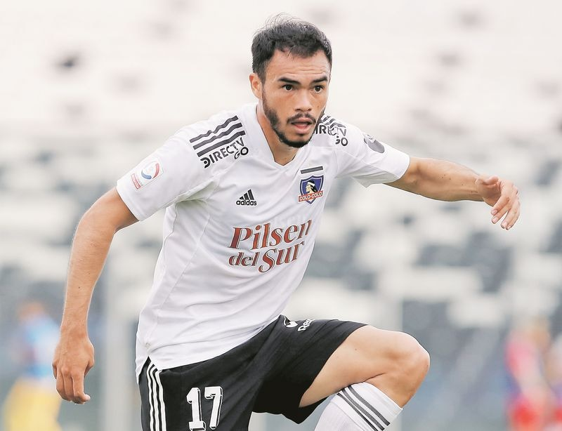 Gabriel Suazo, durante un partido de Colo Colo. FOTO: Agencia Uno.