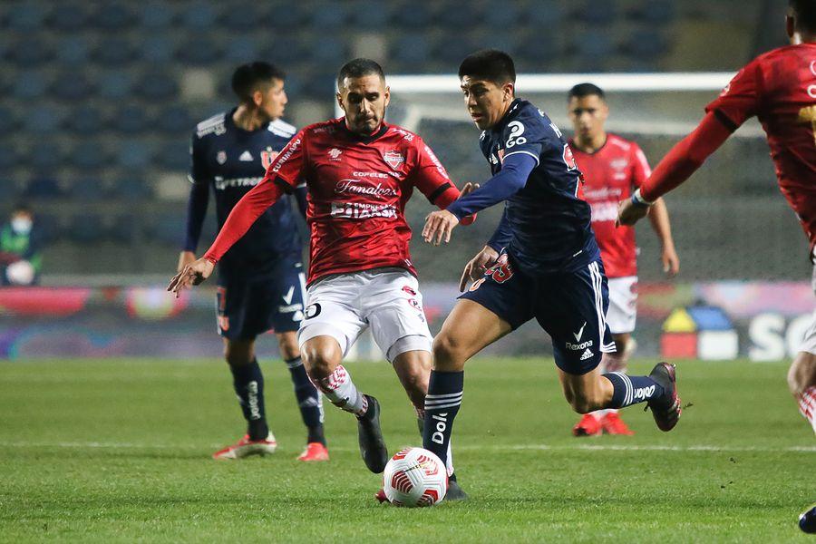 La U no hizo un buen partido ante Ñublense, en Rancagua.