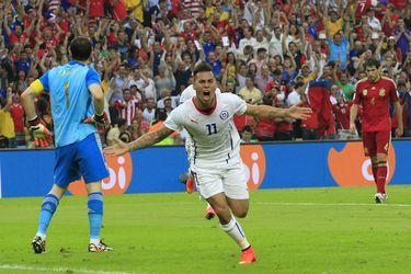 Vargas, Chile vs España | Brasil 2014