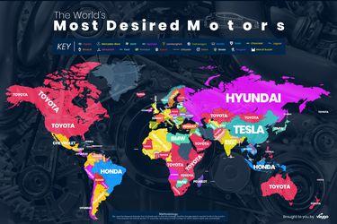 Estas son las marcas de autos más deseadas en cada país