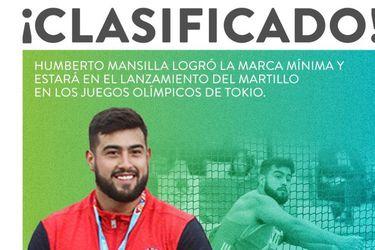 Con récord nacional: Humberto Mansilla consigue la marca mínima y estará presente en Tokio 2020