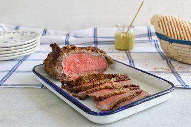 Cómo hacer un roast beef a la mostaza