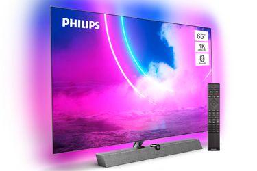 Philips lanzó a su nuevo televisor OLED 4K UHD con una barra de sonido incorporada