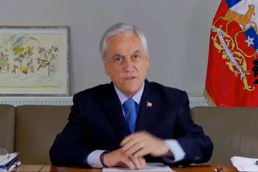 Sebastián Piñera en Cumbre de Adaptación Climática 2021.