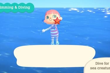 Nueva actualización de Animal Crossing: New Horizons permitirá nadar y bucear