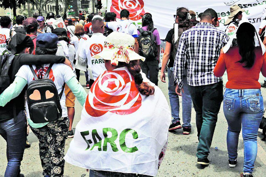 A member of the ex-guerilla FARC political (41575914)
