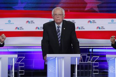 Candidates debate during the second night of the first U.S. 2020 presidential election Democratic candidates debate in Miami, Florida, U.S.