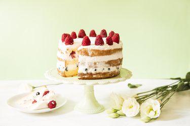 Prepara un naked cake: Una torta desnuda