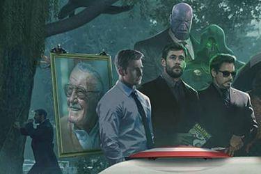 Un fanart imagina a los héroes de Marvel despidiendo a Stan Lee