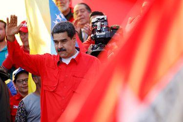 Venezuela's President Maduro attends a rally in Caracas