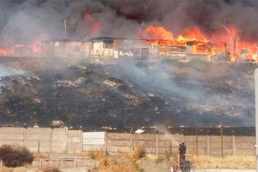 Se incendia Barrancas