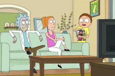 Rick y Summer están atrapados en el comercial de Pringles de Rick and Morty
