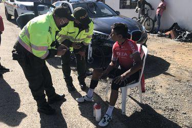 Nairo Quintana sufre accidente durante un entrenamiento
