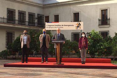 Piñera asegura que más de 1,5 millones de hogares han recibido el IFE y dice que en los próximos días habrá anuncios para la clase media
