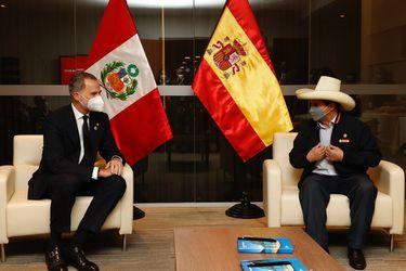 El rey Felipe VI se reúne con Pedro Castillo en la víspera del cambio presidencial en Perú