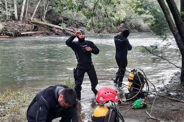 PDI continúa búsqueda de víctima de secuestro en Collipulli con unidades subacuáticas y caninas en el río Renaico