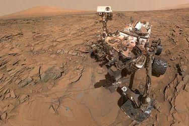 La imagen muestra al Curiosity y el nuevo Perseverance
