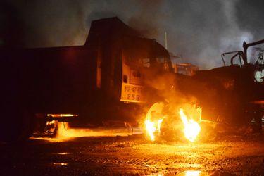 Ataque incendiario deja cinco máquinas y dos vehículos destruidos en el Biobío