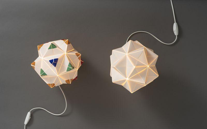 Diseño chileno de luminarias inspirado en la técnica del Origami, desde 2014.