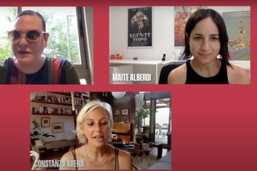 """""""No sé si vamos a cambiar el mundo"""": Daniela Vega y Maite Alberdi conversaron sobre El Agente Topo"""