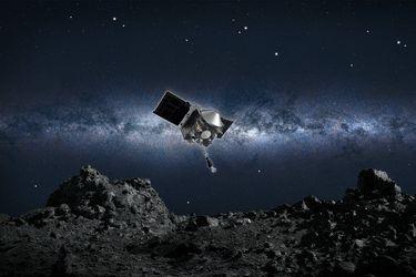 Histórico: la Nasa completa con éxito su misión de arrancar un trozo de un asteroide para traerlo de vuelta a la Tierra