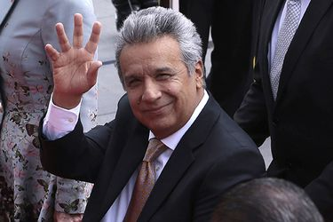 Ecuador's new President Lenin Moreno arrives at the National Assembly