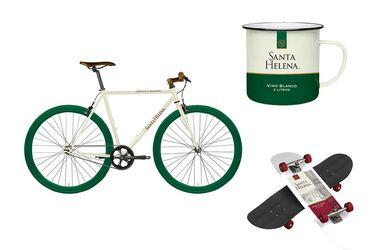 Ahora podrán comprar hasta una bicicleta de vino blanco Santa Helena