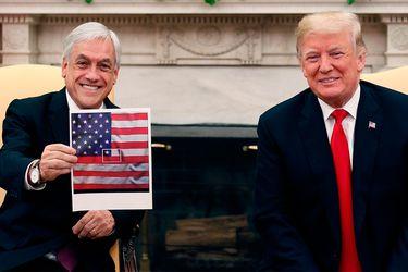 La explicación de Piñera por el meme que le mostró a Donald Trump